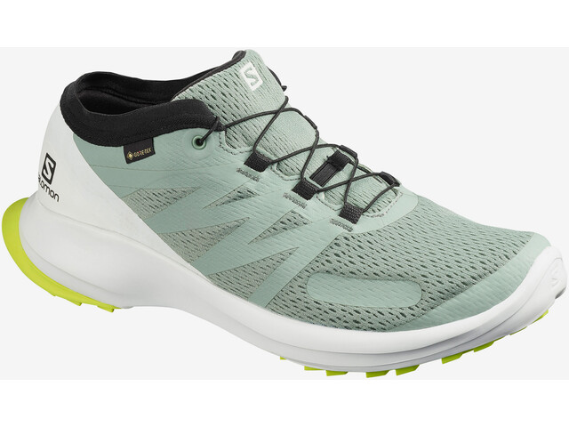 Salomon Sense Flow GTX Shoes Men, green milieu/white/safety yellow